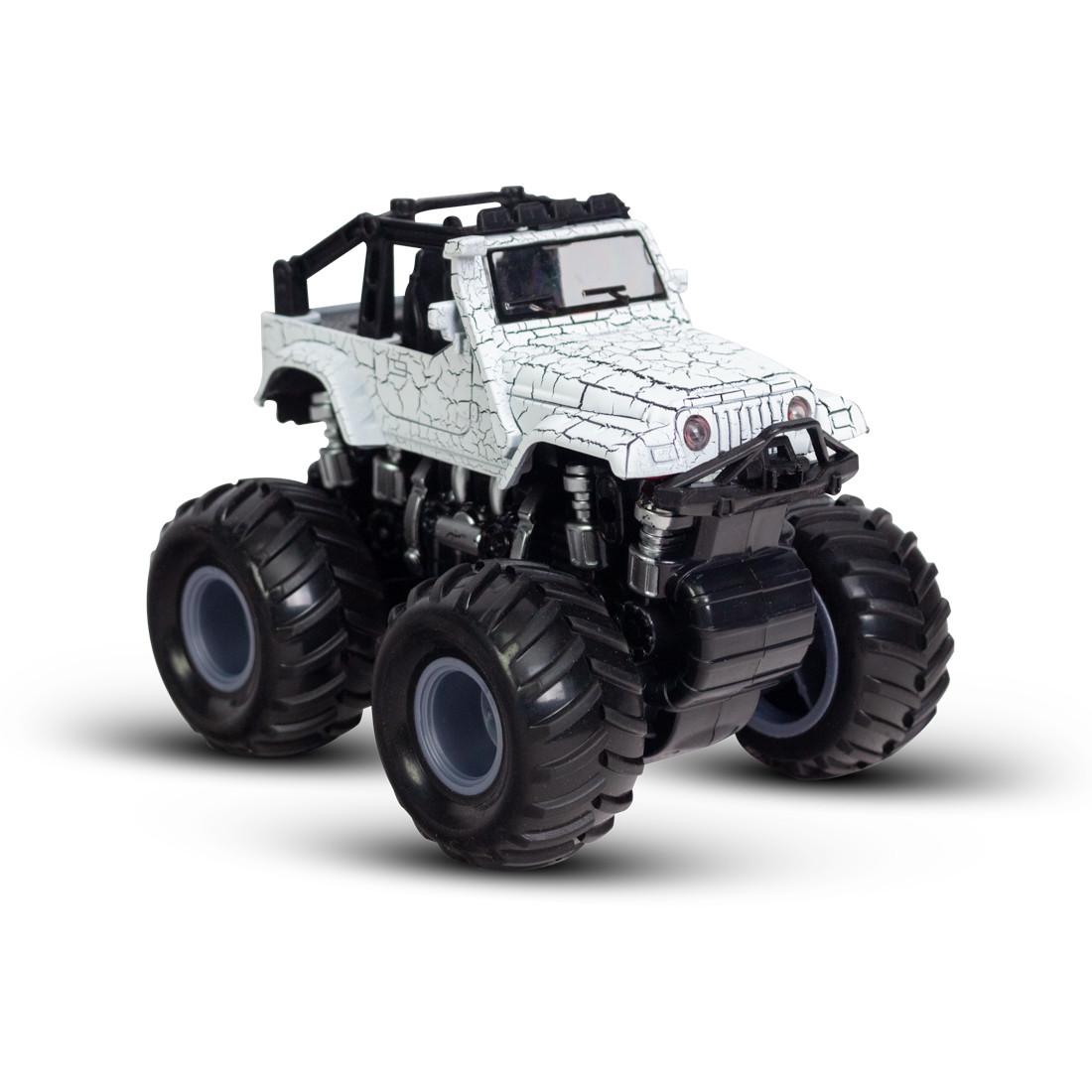 Инерционный внедорожник 12см, X Game kids, X7654, Серия OFF-ROAD, Открытая упаковка, Белый кузов, Цветная
