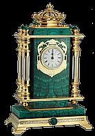 """Часы каминные """"Корона"""" малахит - Купить в Казахстане"""
