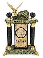 """Часы каминные """"Царь птиц"""" (змеевик) - Купить в Казахстане"""