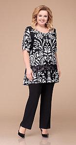 Костюм Svetlana Style-1218, черно-белый, 60