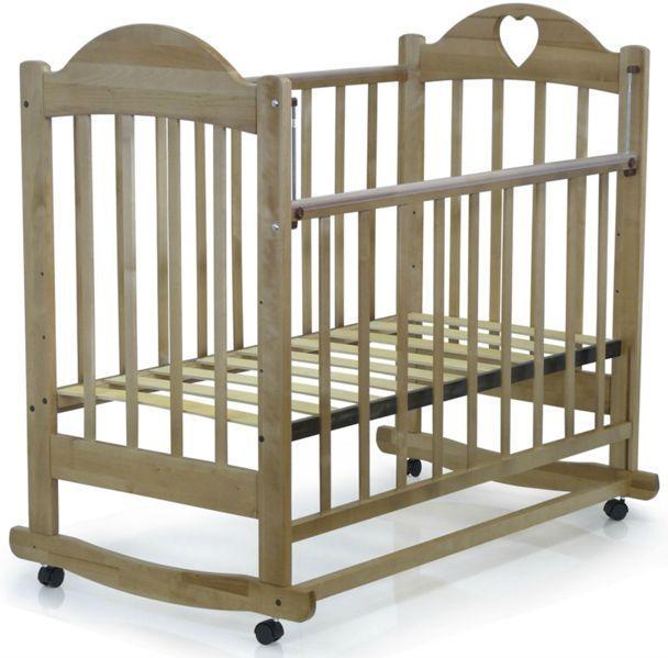 Кровать детская ВЕДРУС ИРИШКА 2 колесо/качалка Орех