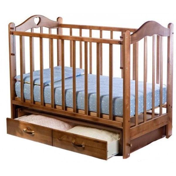 Кровать детская ВЕДРУС ЛАНА 3 маятник Орех