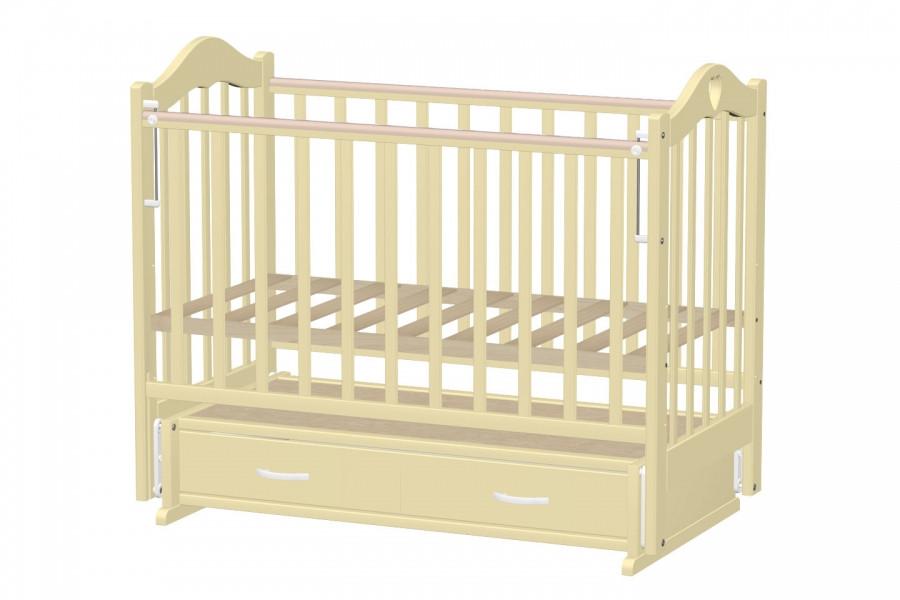 Кровать детская ВЕДРУС ЛАНА 3 маятник Слоновая кость