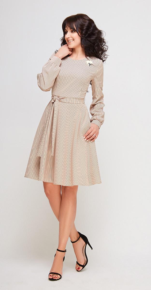Платье Swallow-160/1, Светло кофейный, 46