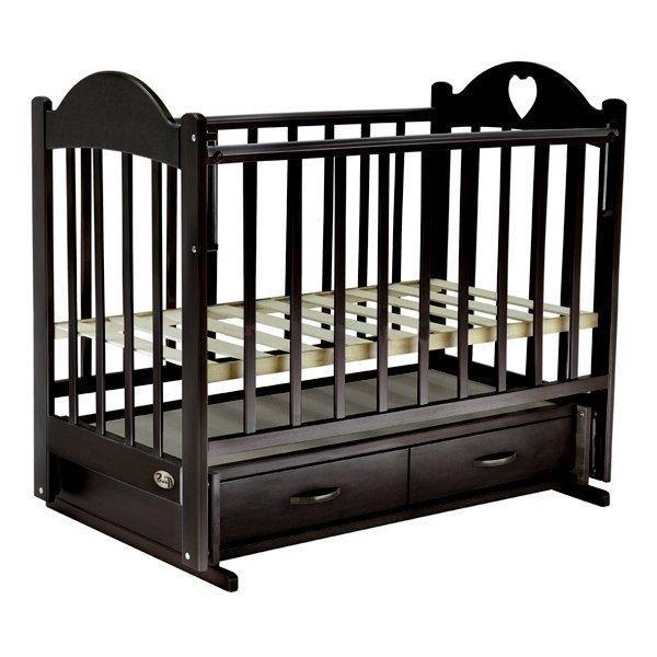 Кровать детская ВЕДРУС ТАИСИЯ 3 маятник Темный орех