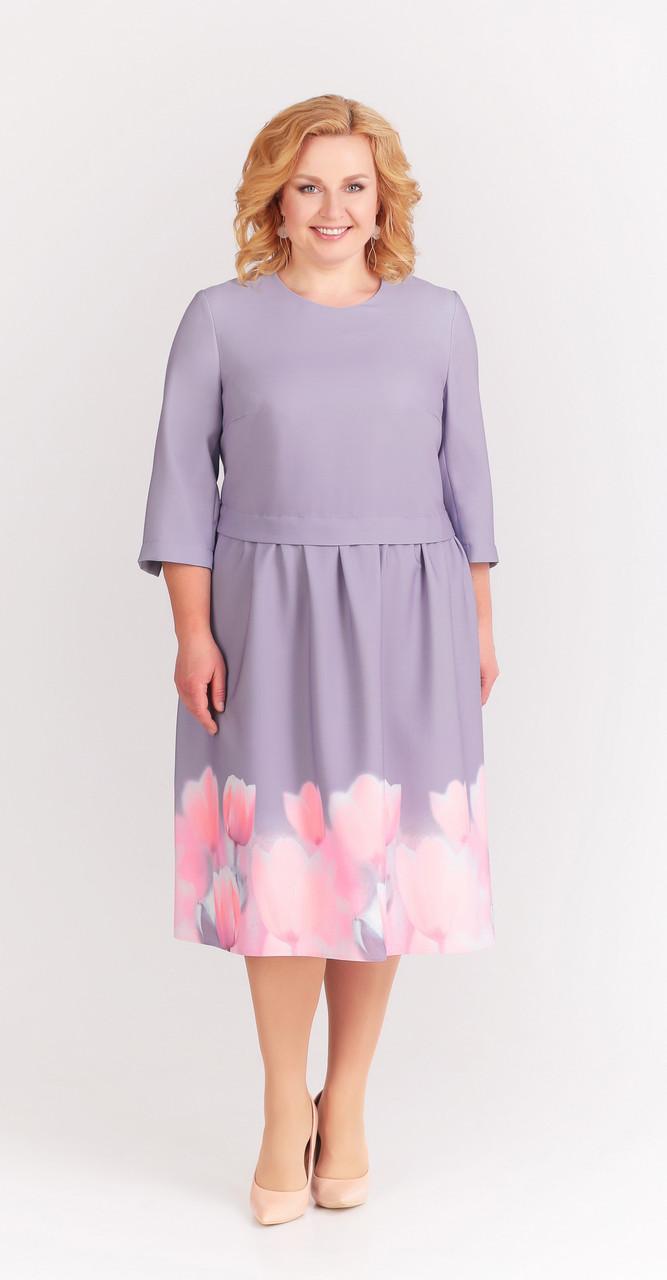 Платье Swallow-175, лиловый, 52