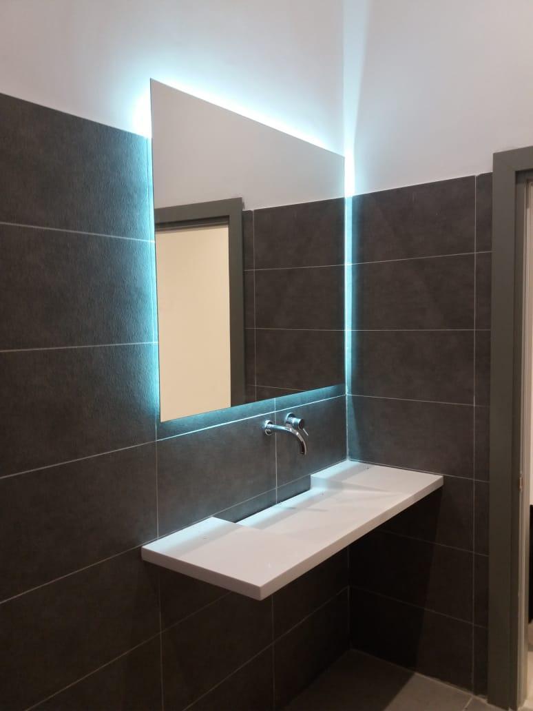 Зеркало с LED- подсветкой «парящее», 1000х1000мм