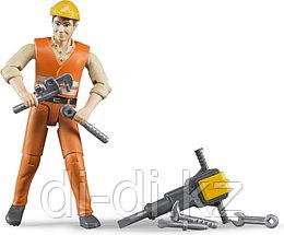 Фигурка строителя с аксессуарами