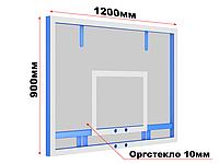 Щит баскетбольный тренировочный из оргстекла 1200х900 мм, фото 1