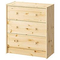 Комод с 3 ящиками РАСТ сосна ИКЕА, IKEA, фото 1
