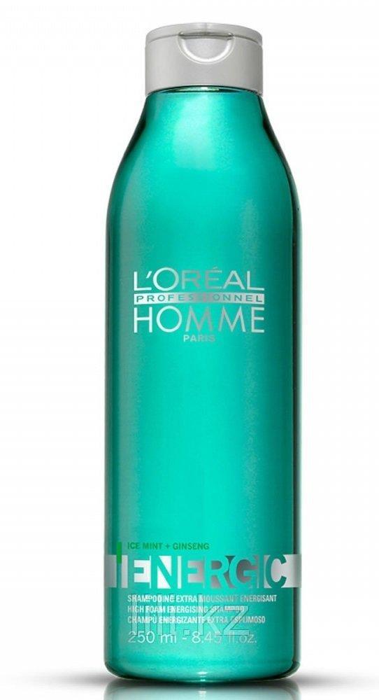 Бодрящий шампунь от выпадения волос L'Oreal Professionnel Homme Energic Shampoo 250 мл.