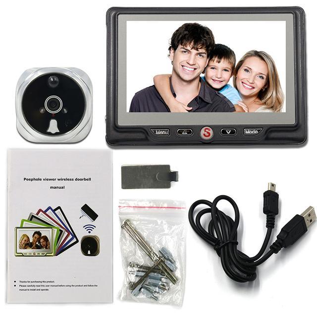 Видеоглазок в дверь с записью на SD карту, звонкоми датчиком движения PST-4,3DM Grey
