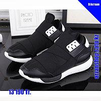 Ультра модные кроссовки Y3 черно-белые, фото 1