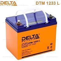 Аккумулятор DELTA DTM 1233 L, 12V/33 A*ч