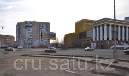 Ул. Абая возле ДрамаТеатр и Цесна Банк