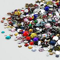 Стразы MIX для дизайна ногтей. Цветные. 1440 шт