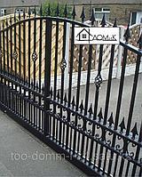 Ворота распашные открытые, фото 1