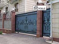 Ворота  откатные кованые 2, фото 1