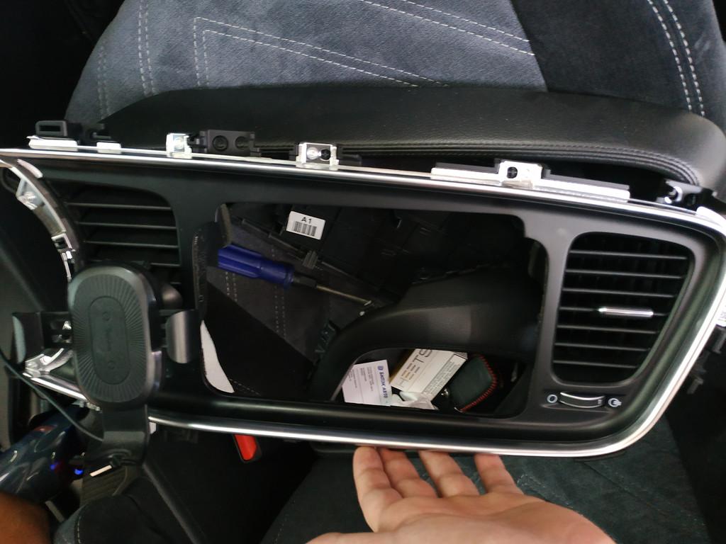 Установка автомагнитолы в стиле Teslaфирмы дск, DSK Для автомобиля Kia Optima 3