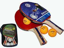 Набор для настольного тенниса Changyun с чехлом (2 ракетки, 3 мяча)  Level 100