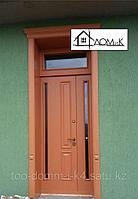 Дверь входная со стеклом и доборная доска