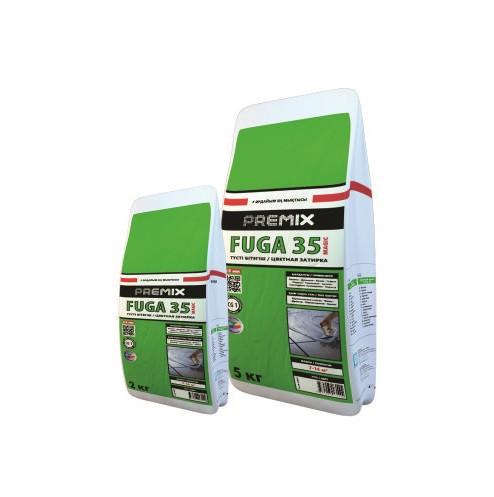 Цветная эластичная затирка для швов до 5 мм.Для внутр и нар.работ.Premix Fuga 35 Ultra 2кг (Графит)