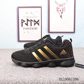 Беговые \ повседневные кроссовки Adidas Marathon TR 26 Black\Gold( Люкс дубликат) , фото 2