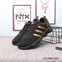 Беговые \ повседневные кроссовки Adidas Marathon TR 26 Black\Gold( Люкс дубликат) , фото 3