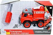 B11742 Пожарная машина разбирайка   серия конструктор 33*20см, фото 2
