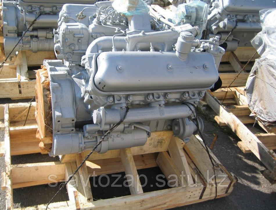 Двигатель (индивидуальной сборки) без кпп и сцепления на блоке нового образца, вал до 1 рем Ямз 238НД5-1000186