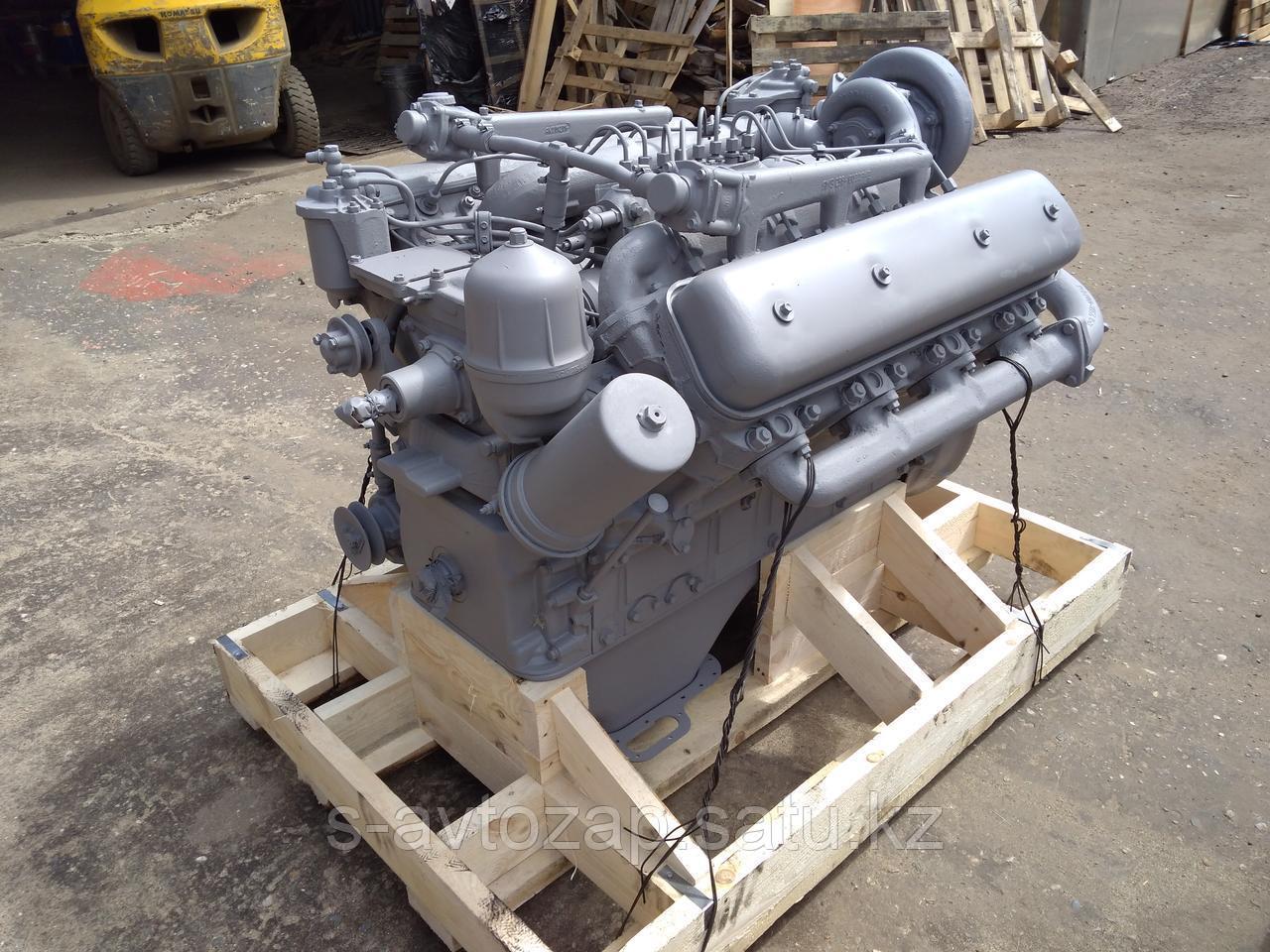 Двигатель (индивидуальной сборки) НА БЛОКЕ НОВОГО ОБРАЗЦА без КПП и сцепления ВАЛ ДО 1 рем. ЯМЗ 238БЕ2-1000187