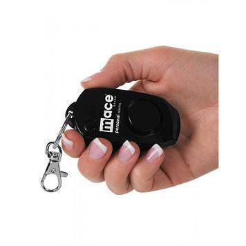 Сигнализатор тревоги персональный Mace Keychain, Сигнализатор: Звуковой 130dB, Цвет: Чёрный, Упаковка: Блистер