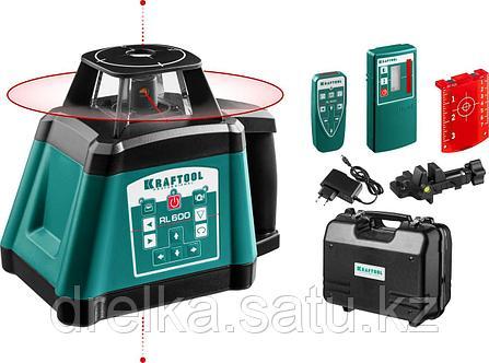 """Ротационный лазерный нивелир """"RL600"""", сверхъяркий, KRAFTOOL 34600, 600м, IP54, точн. 0,2 мм/м, фото 2"""