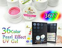 Гель набор 36 цветов перламутровый эффект жемчуга, фото 1