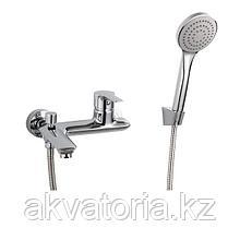 V35-31 Смеситель однор. для ванны с кор. излив. хром
