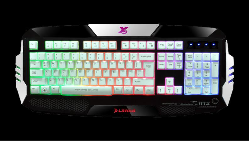 Игровая мультимедийная клавиатура с подсветкой X-LSWAB S777