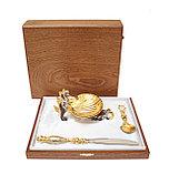 Икорница Краб. Ручная работа, золото, никель, фото 5