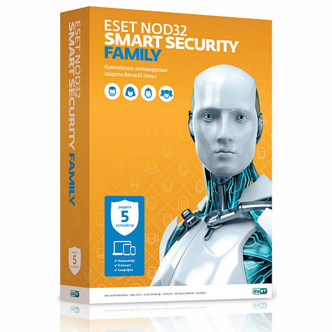 ESET NOD32 Smart Security Family 5 ПК / 12 мес. , фото 2