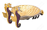 Икорница Краб. Ручная работа, золото, никель, фото 4