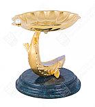 Икорница Жемчужина. Ручная работа, золото, жемчуг, фото 3