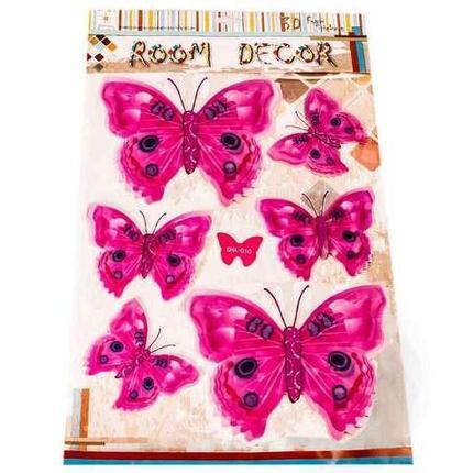 Наклейки 3D для украшения интерьера «Бабочки» (GW-002), фото 2