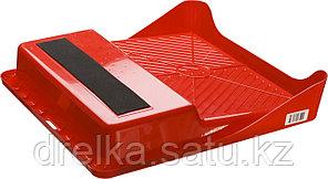 Ванночка ЗУБР малярная пластмассовая, для валиков до 270 мм, 360х360мм, 1,3л, фото 2