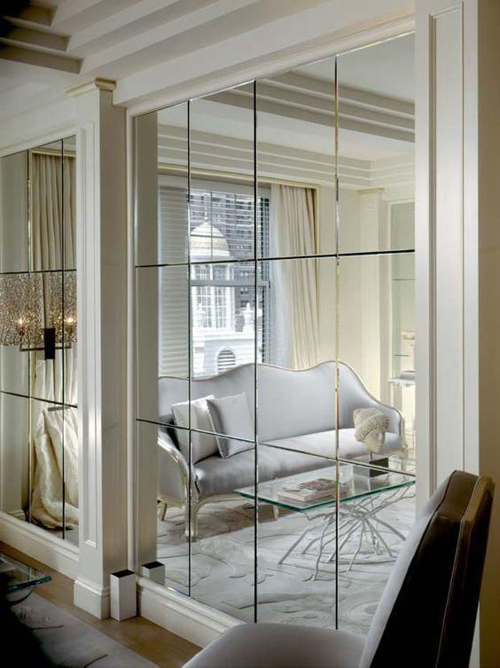 Зеркальное панно из стекла