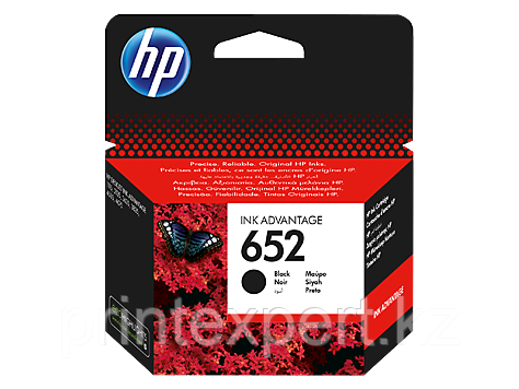 HP F6V25AE HP 652 Black Ink Cartridge for DeskJet IA 1115/2135/3635/3835/4535/4675, up to 360 pages HP 652 Bla