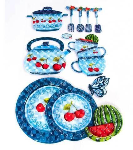 Наклейки 3D для украшения интерьера «Посуда» (ZLV-008)