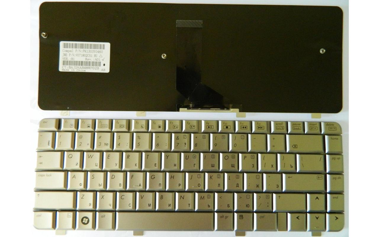 Клавиатура для ноутбука HP Pavilion DV4-1000 Series RU серебристая