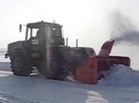 Снегоочиститель на К-700 (задняя навеска)