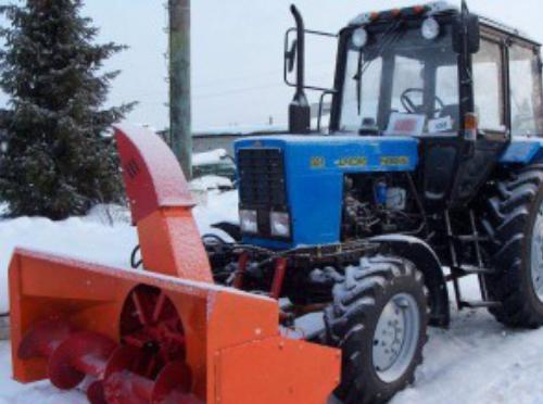 Снегоочиститель МТЗ (передняя навеска)-Однороторный