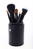 Набор кистей для макияжа 12 шт в тубусе черный, фото 1