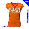 Женская футболка с вырезом для йоги и фитнеса Better Bodies оранжевая